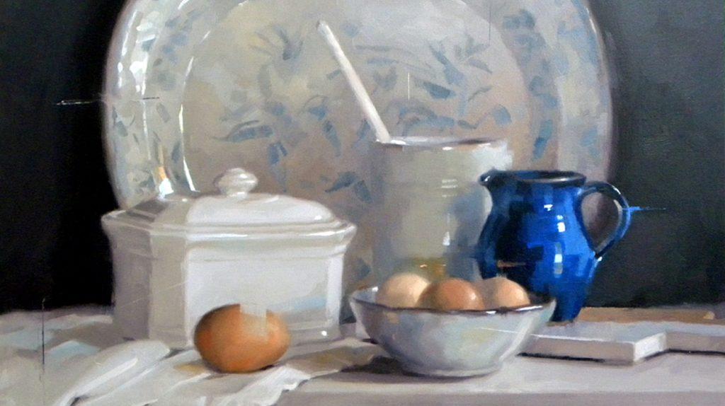 Little Blue Jug by Caroline Richardson